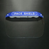 in Stock Anti Fog Transparent Pet Plastic Eyes Mouth Nose Protection Medical Face Shield